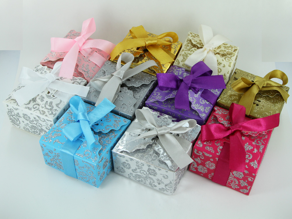 Wedding Gift Box Ebay : ... Ribbon Wedding Favor Gift Boxes Baby Shower Candy - 10 Colors eBay