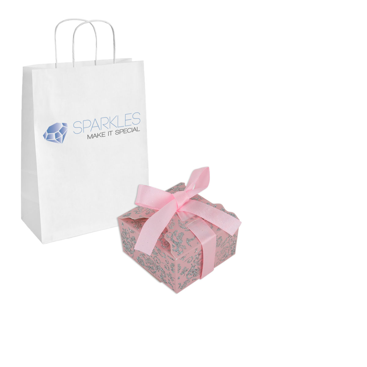 10 Small Ribbon Wedding Favor Gift Boxes Baby Shower Candy 11