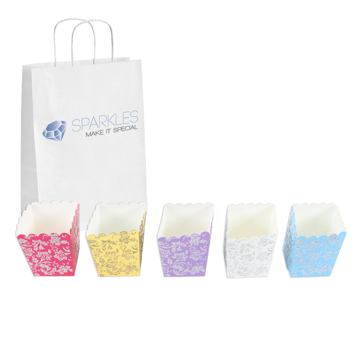 50 wedding favor popcorn gift boxes baby shower candy free shipping