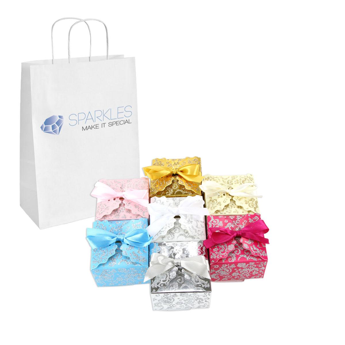 Candy Wedding Favors: 50 Medium Ribbon Wedding Favor Gift Boxes