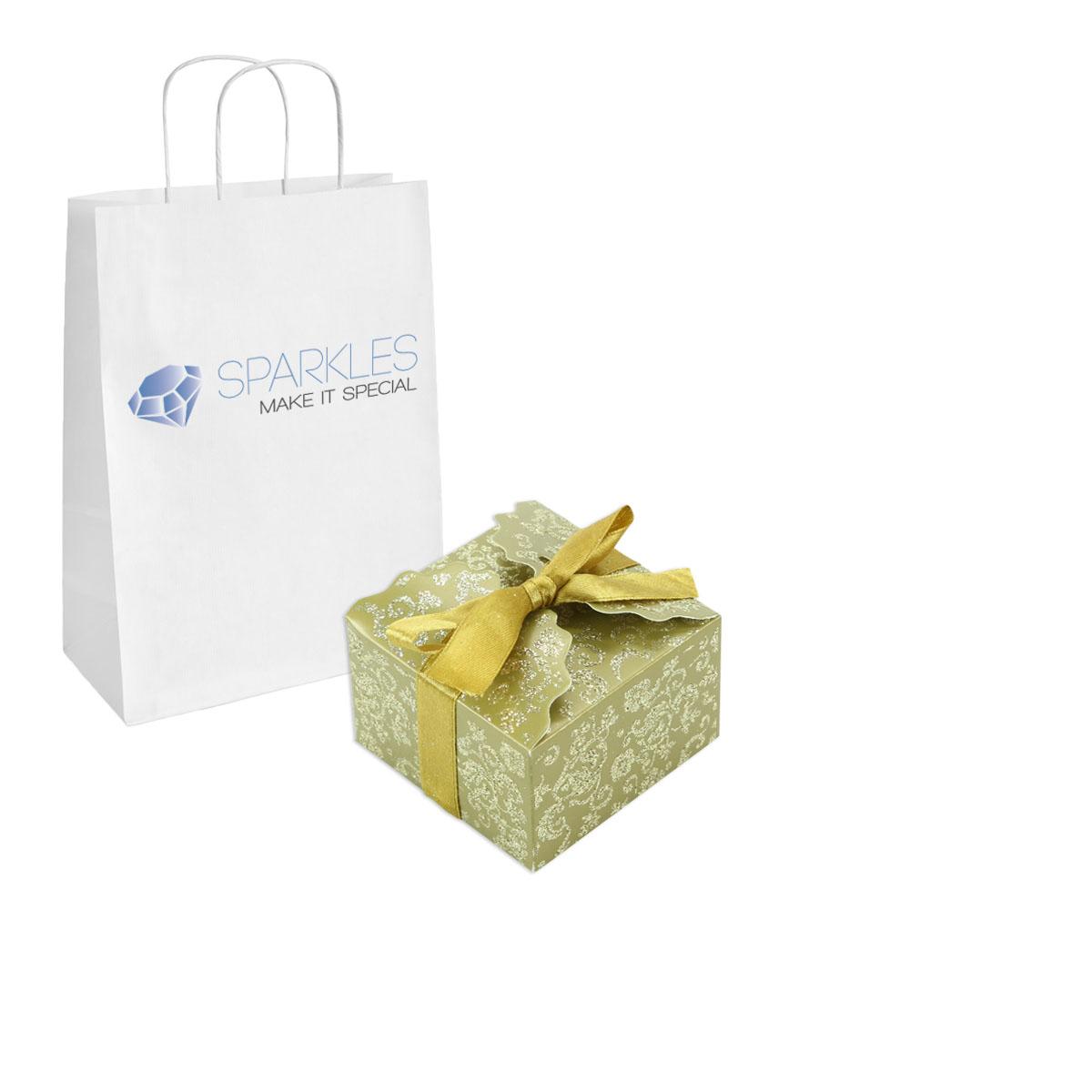 50 Medium Ribbon Wedding Favor Gift Boxes - Baby Shower Candy | eBay