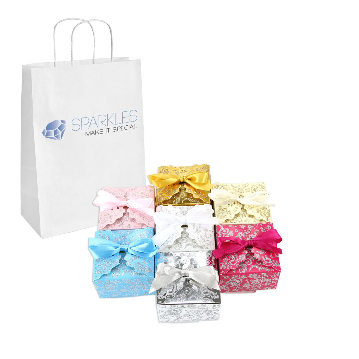 50 medium ribbon wedding favor gift boxes baby shower candy ebay