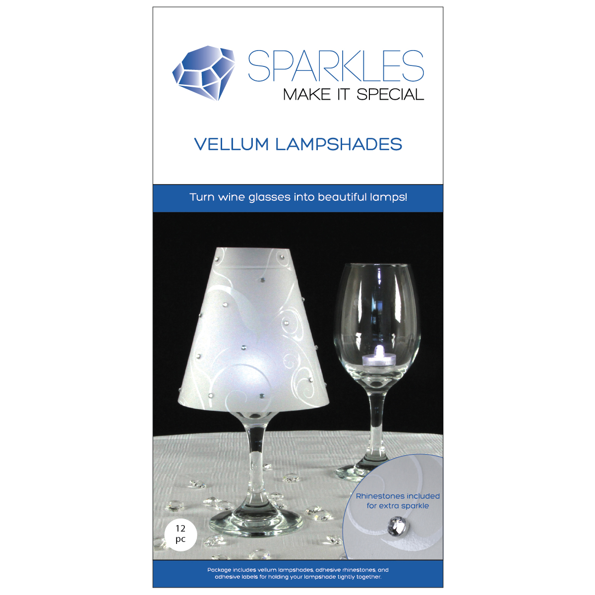12 wine glass lamp shades rhinestones wedding party table centerpiece