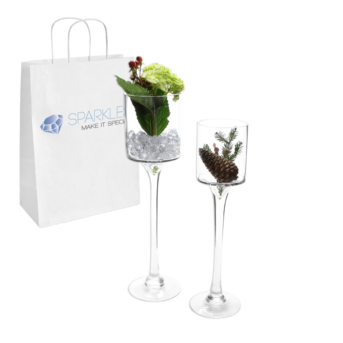 16 tall 4 opening clear wine glass vase flower candle display a 16 tall clear wine glass vase with 4 opening each of our glass vases and terrariums can be filled with gems flowers candles or leds to add an reviewsmspy