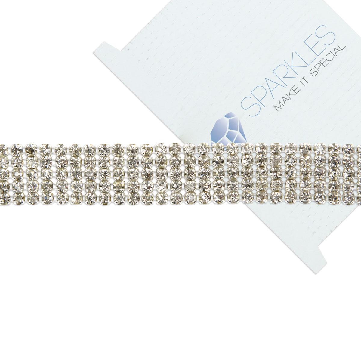 Rhinestone Bands: 1 Yard Premium Crystal Rhinestone Ribbon / Wedding Cake