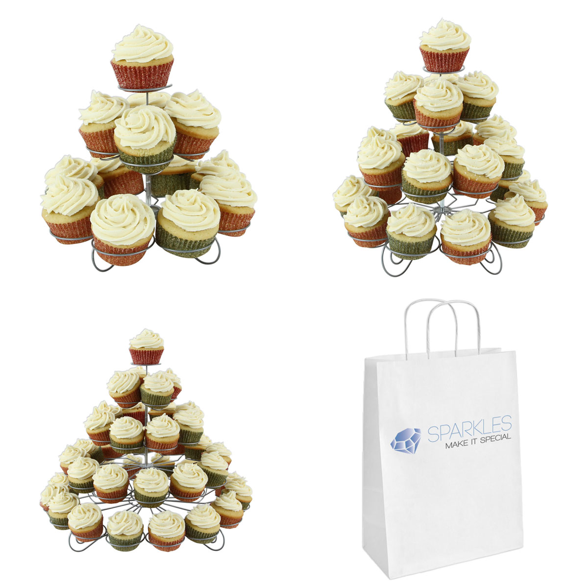 Spiral Wire Cupcake Stand - 3 Sizes