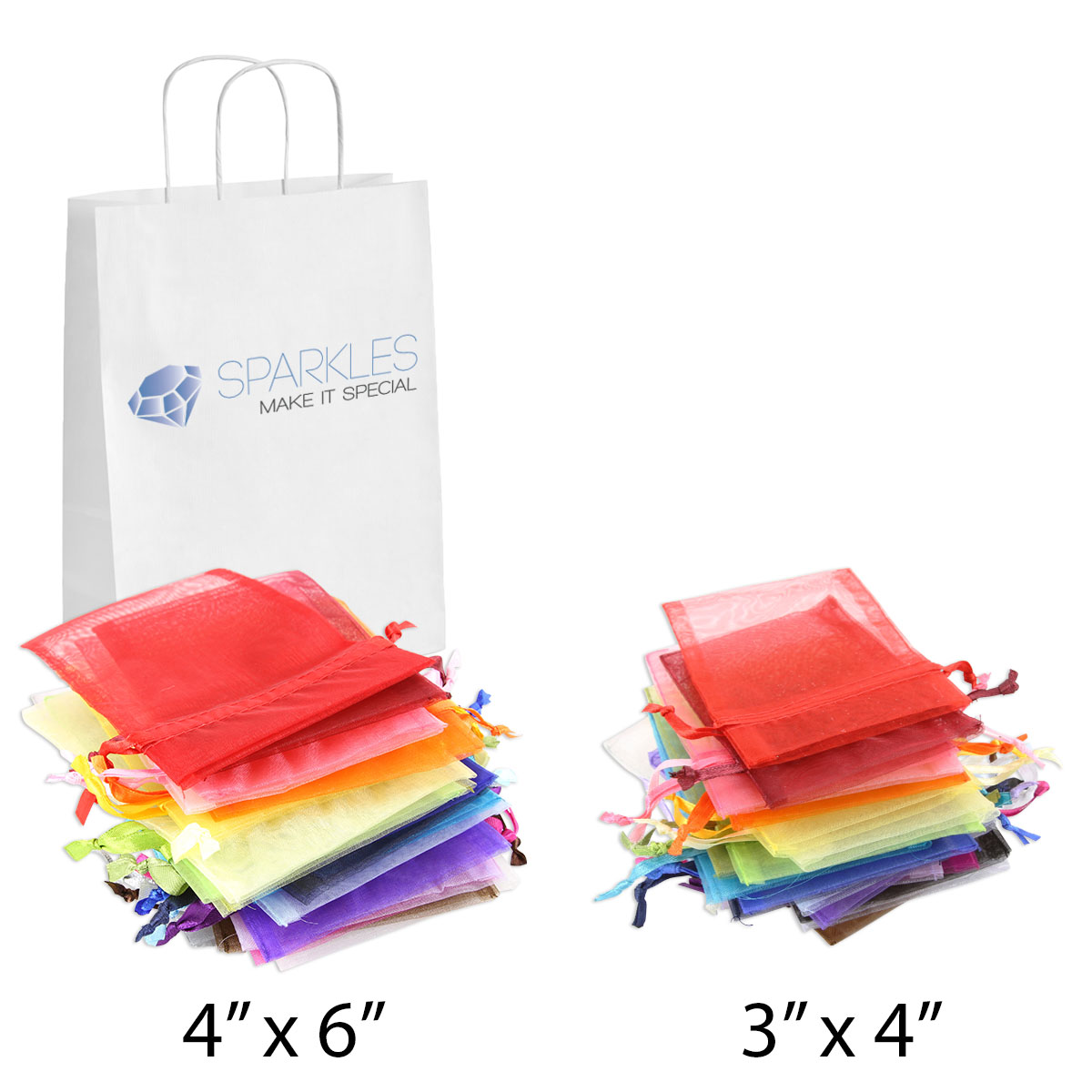Wedding Gift Pouches: Organza Wedding Favor Bags 3x4 4x6 Party Decoration Gift
