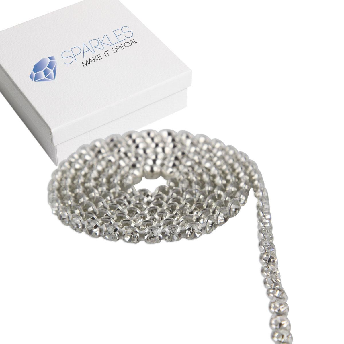 Rhinestone Bands: Premium SS19 SS16 Diamond Crystal Rhinestone Ribbon