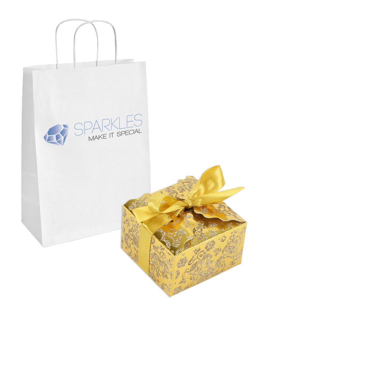 ... -Gold-Medium-Ribbon-Wedding-Favor-Gift-Boxes-Party-Event-Candy-Box
