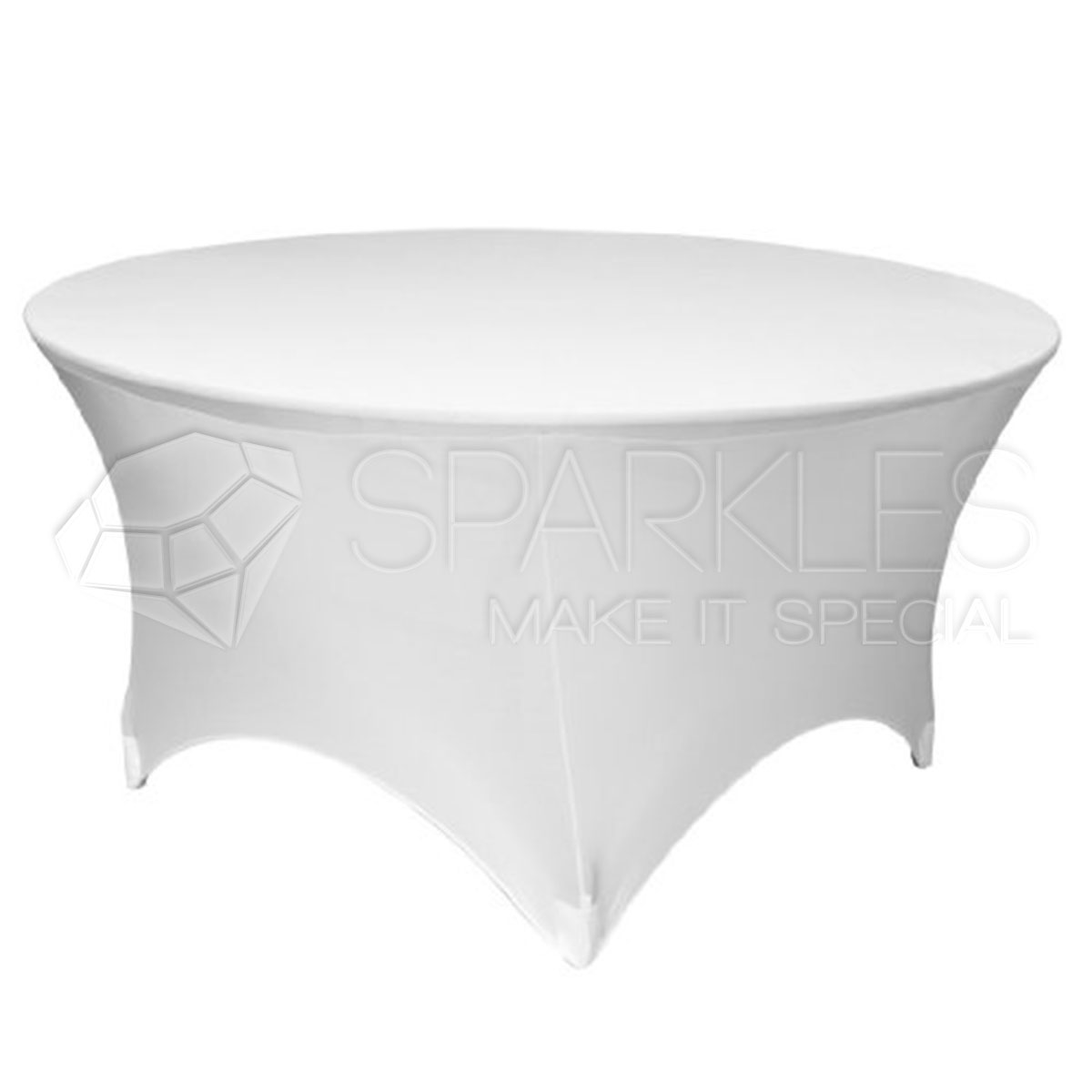 1 pc 60 round fitted spandex cloth fabric linen tablecloth white. Black Bedroom Furniture Sets. Home Design Ideas
