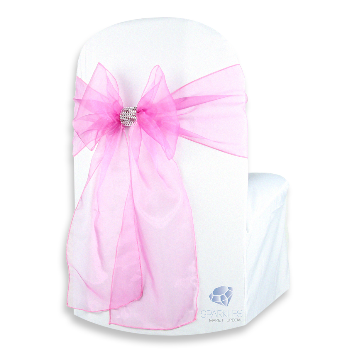 25-pcs-Organza-Chair-Cover-Bow-Sash-108-034-x8-034-Wedding-Party-Banquet-Reception