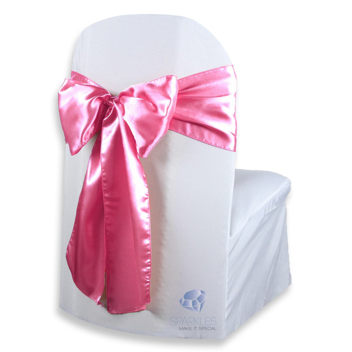 100 Pcs Satin Chair Cover Bow Sash 108x8 Wedding Party Banquet Reception