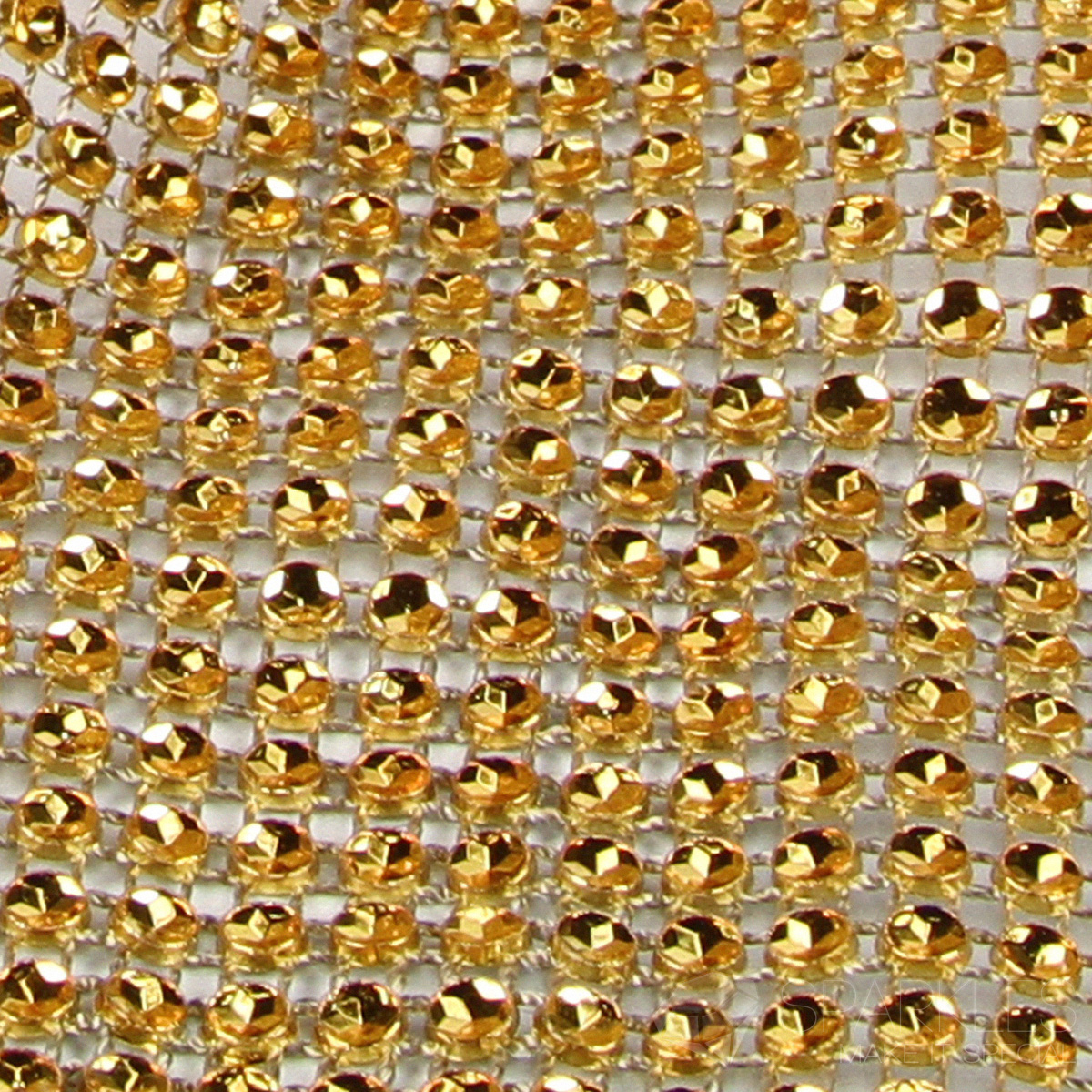Gold 2 Row Diamond Rhinestone Ribbon Trim Mesh Wrap Yards Wedding Party Fl