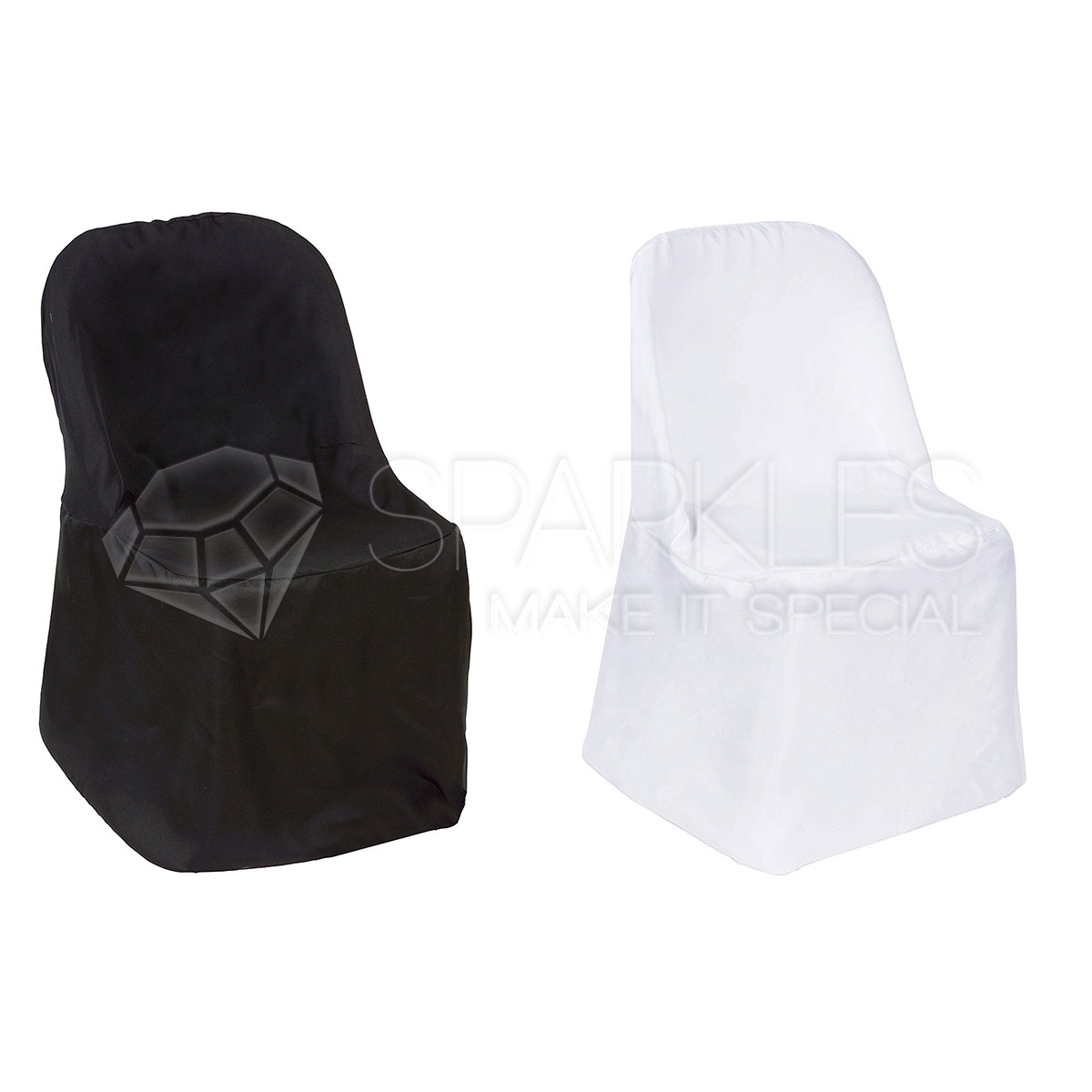 Astounding Details About Polyester Black White Or Ivory Folding Chair Covers Wedding Reception Machost Co Dining Chair Design Ideas Machostcouk